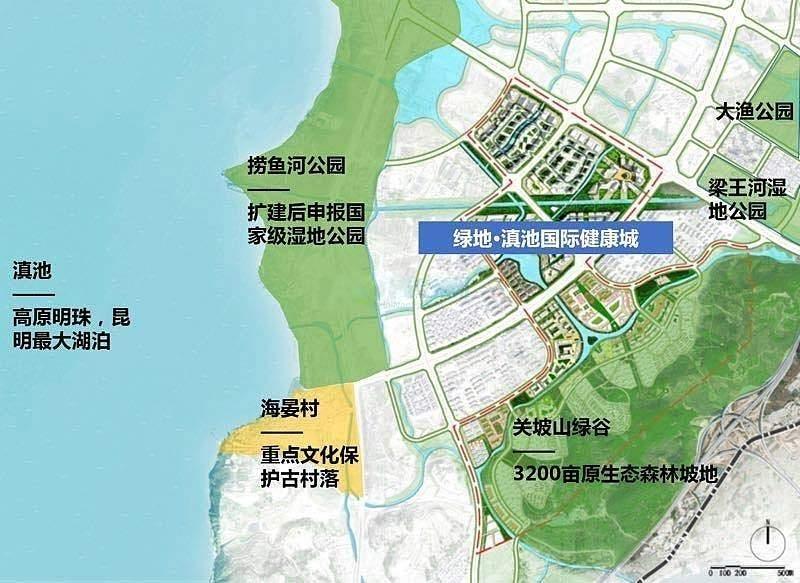 绿地·滇池国际健康城方位图