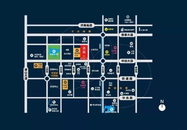 淄博富力·万达广场位置图