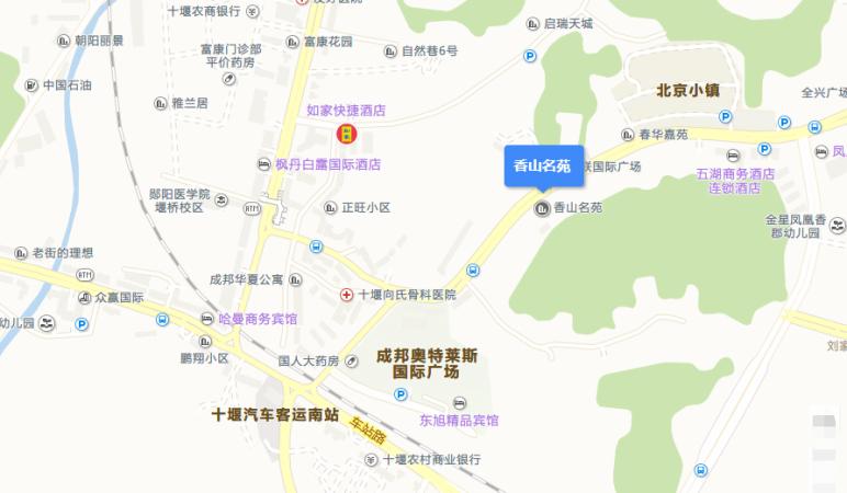 中房香山苑配套图