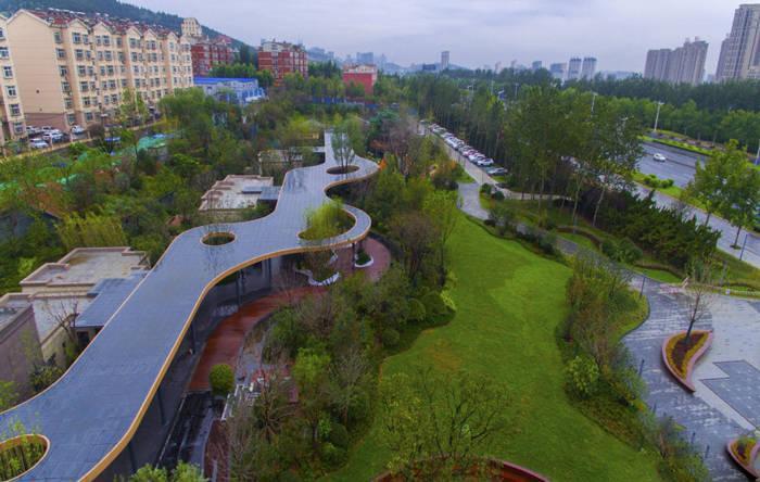 济南万达城实景图