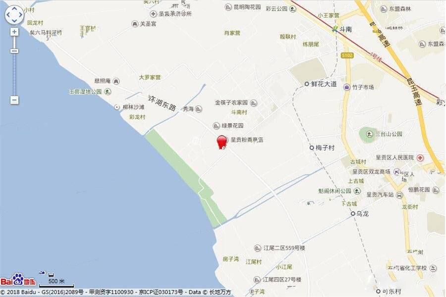 中国滇池花田国际度假区方位图
