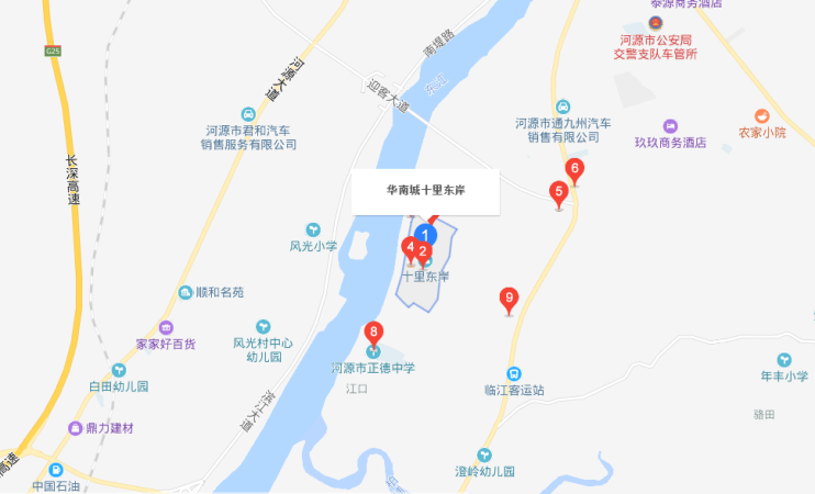 十里东岸·八期云翠谷位置图