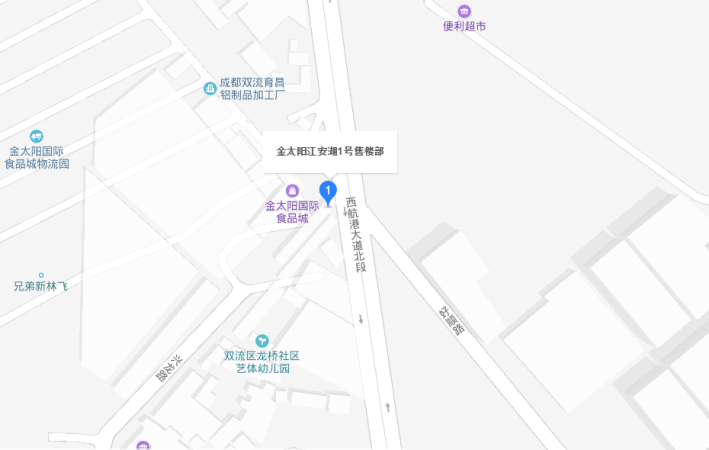 金太阳江安湖1号位置图