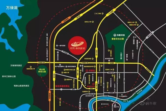 中兴·体育新城位置图