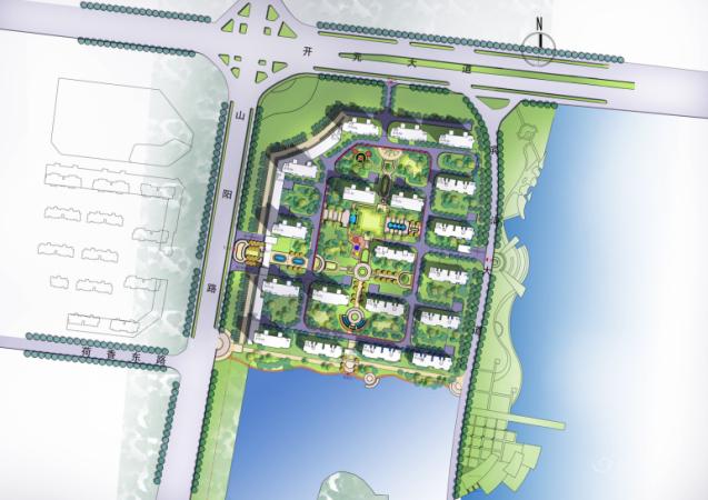 东湖世纪城规划图