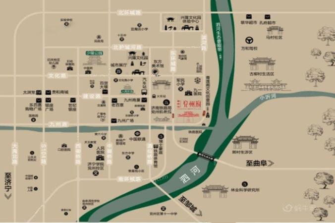 碧桂园兖州府位置图
