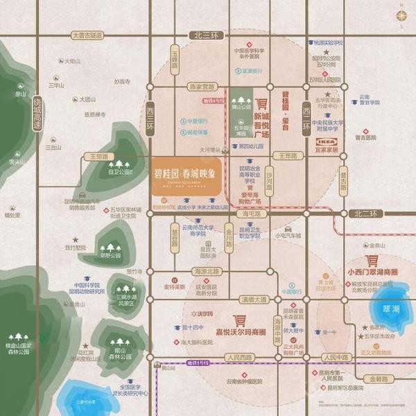 碧桂园·春城映象规划图