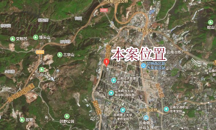 碧桂园·春城映象位置图