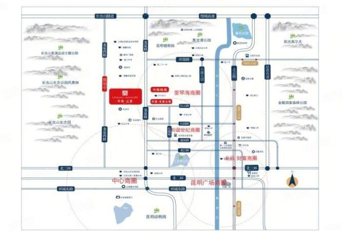 中海云著壹号公寓规划图