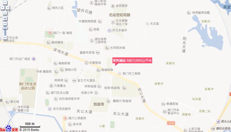 紫荆澜庭位置图