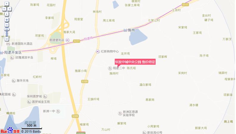 华发中城悦位置图