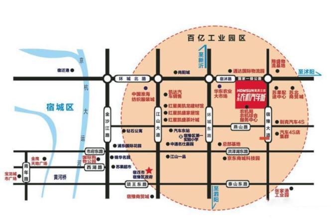 华东农机汽车城位置图