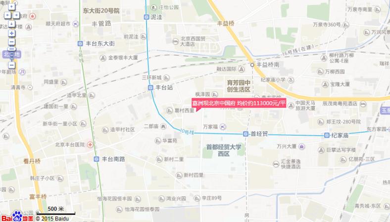 葛洲坝北京中国府位置图