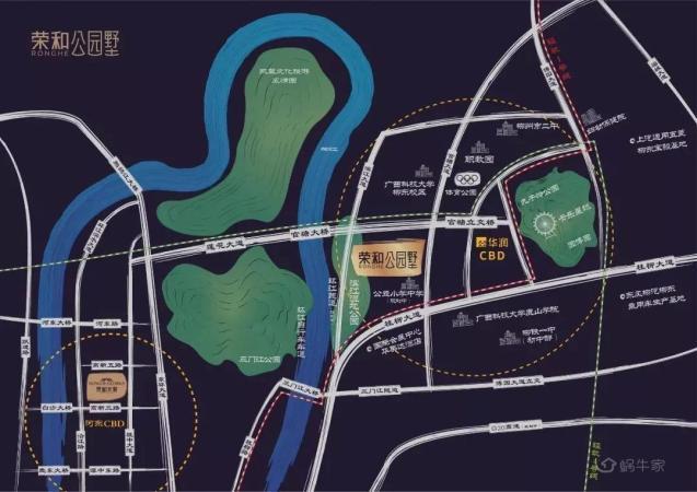 荣和·公园墅位置图