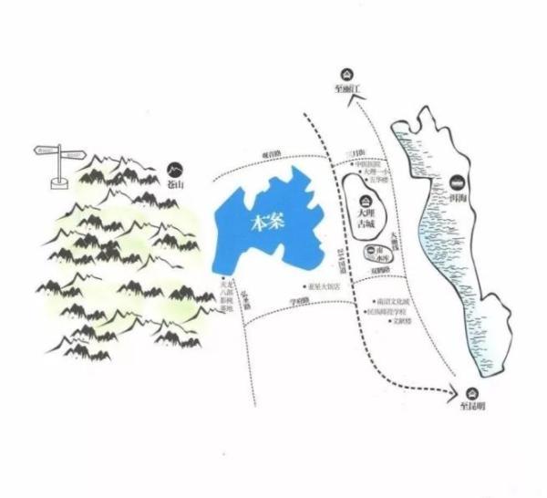 大理悦山海位置图