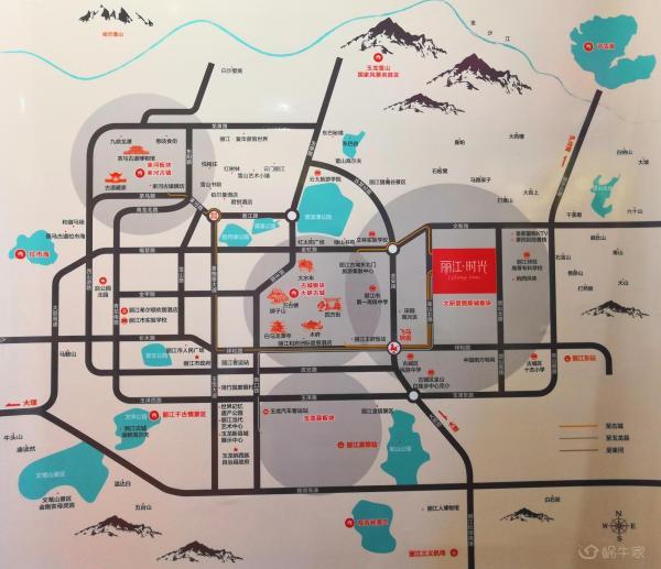 丽江时光位置图