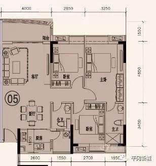 平冈新城户型图